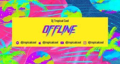 Twitch Banner Design Creator with Vibrant Summery Colors 2721a