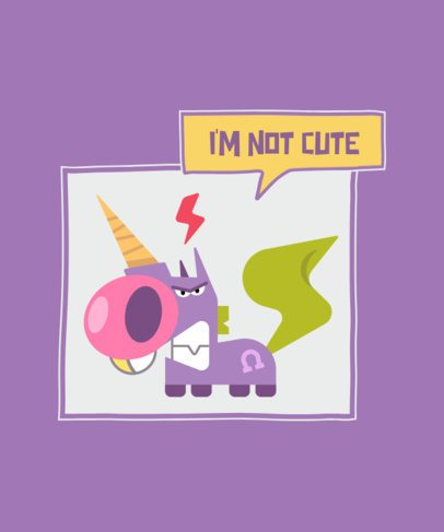 T-Shirt Design Generator Featuring Funny Unicorn Cartoons 2169-el1
