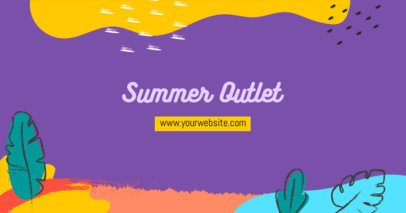 Facebook Post Template Featuring Summery Graphics for an Outlet Promo 2720g