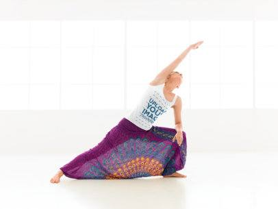 Tank Top Mockup of a Woman Doing a Side Stretch 38348-r-el2
