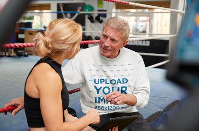 Sweatshirt Mockup of a Coach Giving Tips to a Boxer 39493-r-el2