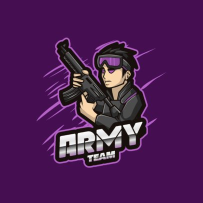 Gaming Logo Creator Featuring an Armed Character Graphic 2129b-el1