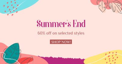 Colorful Facebook Post Maker Featuring a Summer Discount 2720j