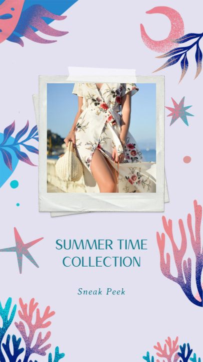 Instagram Story Maker Featuring Tropical Leaves for a Summertime Collection 2718d