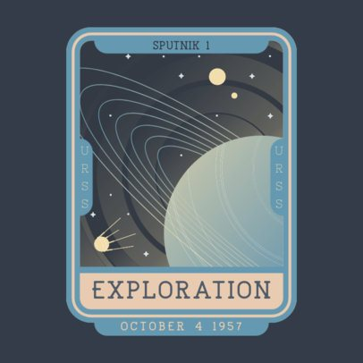 Retro Logo Generator Featuring a Planet Illustration 3452a
