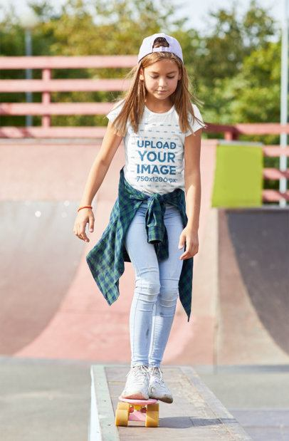 T-Shirt Mockup of a Skater Girl 39335-r-el2