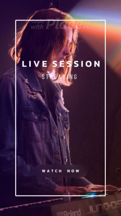 Simple Instagram Story Video Maker for a Live Music Session 1687a-2124-el1
