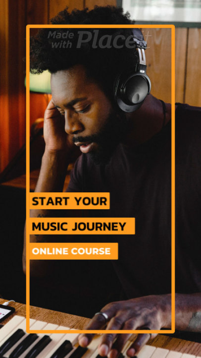 Instagram Story Video Maker for a Music Course Promotion 1617a-2129-el1