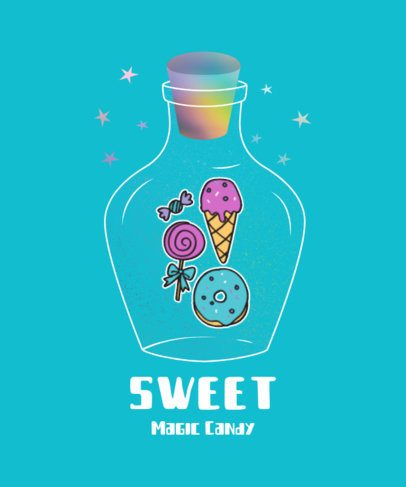 Illustrated T-Shirt Design Maker for Kids Featuring Sweet Treats 2210d-el1