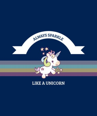 T-Shirt Design Maker with a Cute Unicorn Quote and a Rainbow 2222d-el1