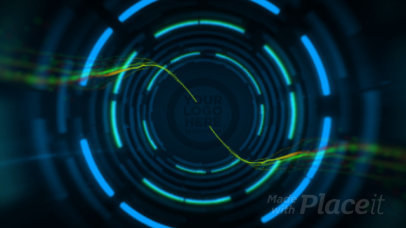 Logo Reveal Intro Maker Featuring Neon Lights and a Tunnel Effect 637-el1