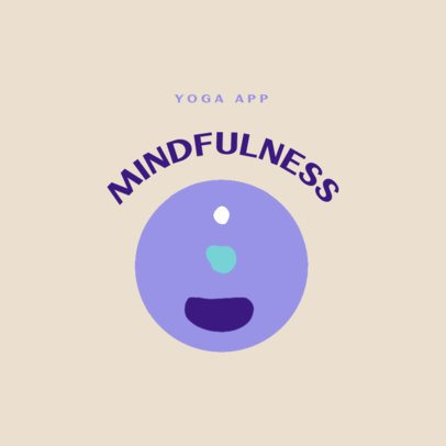 Simple Logo Template for a Yoga App 3465b