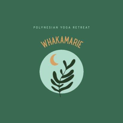 Logo Maker for a Yoga Retreat Featuring Minimal Illustrations 3465c