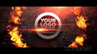 Logo Reveal Intro Maker with a Cinematic Effect and Fire Animations 2098-el1