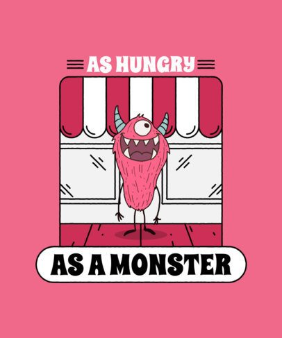 Kids T-Shirt Design Maker Featuring a Hungry Monster Cartoon 2218d-el1