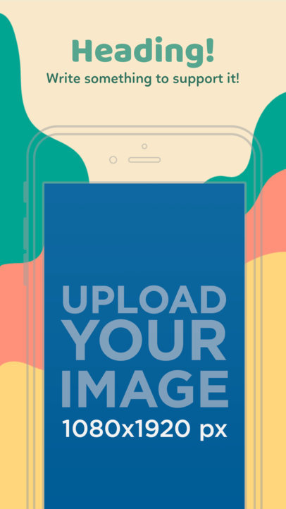 Illustrated iPhone 6s On Portrait Position Appstore Screenshot Generator 1318