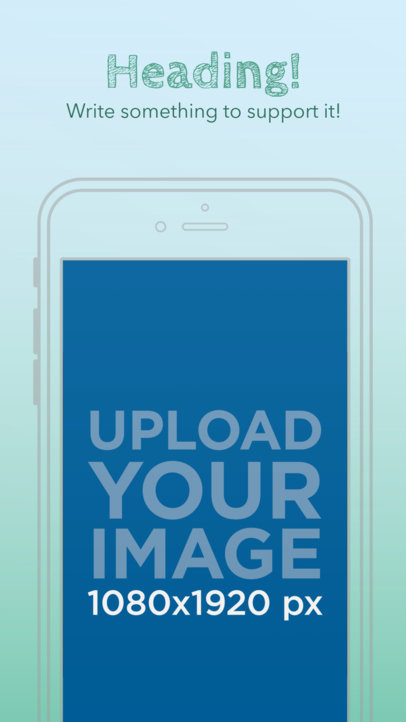 Illustrated iPhone 6s On Portrait Position Appstore Screenshot Generator