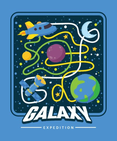 T-Shirt Design Creator with a Framed Galaxy Maze 2197c-el1