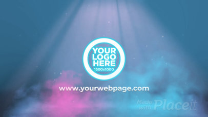Intro Maker for a Logo Reveal with Colorful Smoke Animations 2081-el1