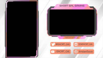 Twitch Overlay Design Creator Featuring Angled Lines in the Background 2729i
