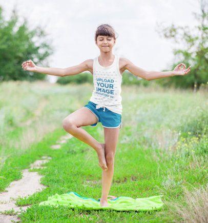Tank Top Mockup of a Girl Doing Yoga 34927-r-el2