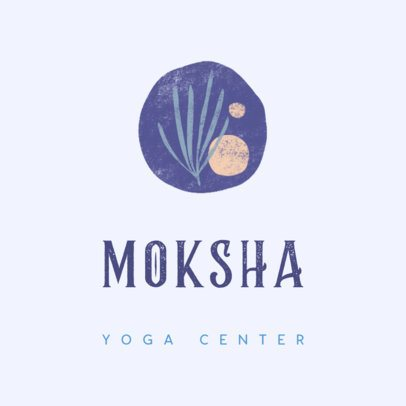 Logo Maker for a Yoga Center with an Abstract Graphic 3464f