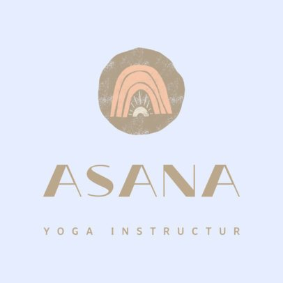 Pastel-Colored Logo Maker for a Yoga Instructor 3464i