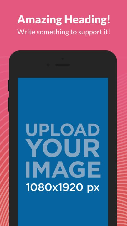 Black iPhone 6s Portrait iOS Screenshot Maker