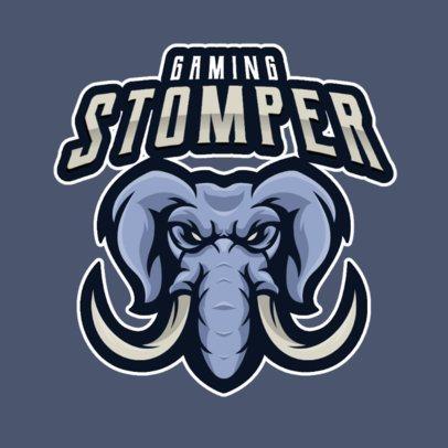 Online Logo Maker Featuring a Raging Elephant 2384b-el1