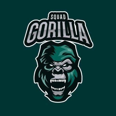 Mascot Logo Creator Featuring a Raging Gorilla 2384d-el1