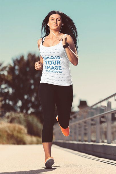 Tank Top Mockup of a Woman Running 34429-r-el2