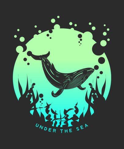 T-Shirt Design Creator with a Subaquatic Landscape Illustration 2393b-el1