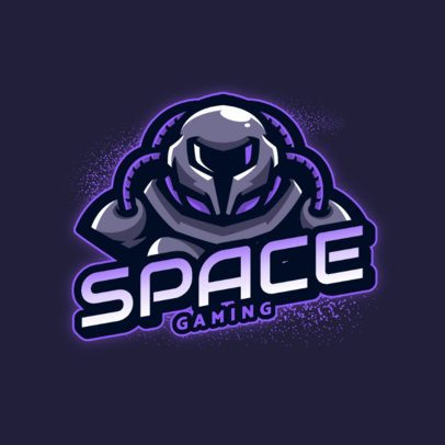 Online Logo Template of a Space Robot 2367a-el1