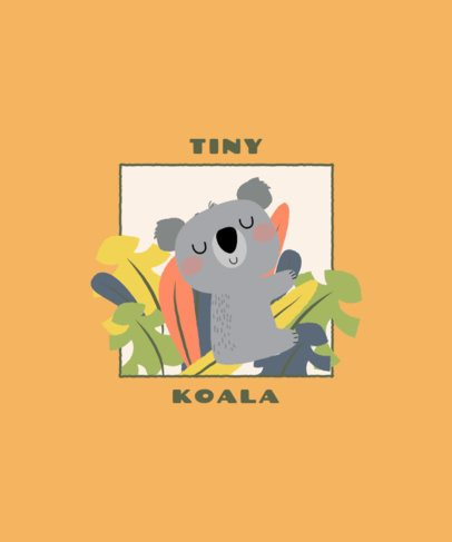 T-Shirt Design Maker of a Cute Little Koala 2332c-el1