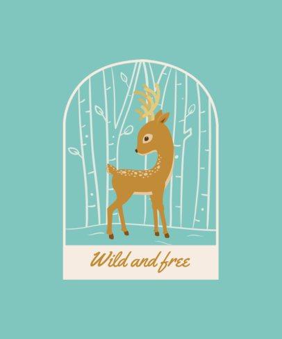 T-Shirt Design Maker Featuring Adorable Illustrations of Baby Animals 2326-el1