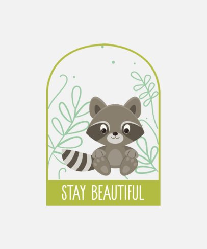 Cute T-Shirt Design Maker of a Baby Raccoon 2326a-el1