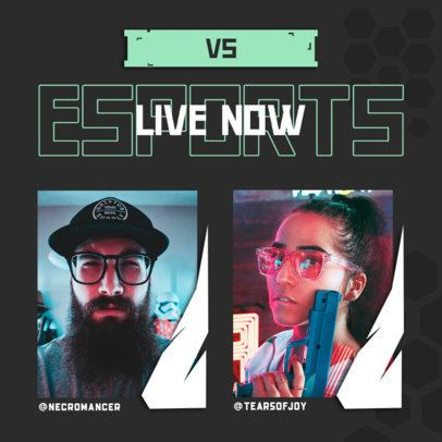 Instagram Post Design Creator to Promote an eSports Live Streaming 2342c-el1