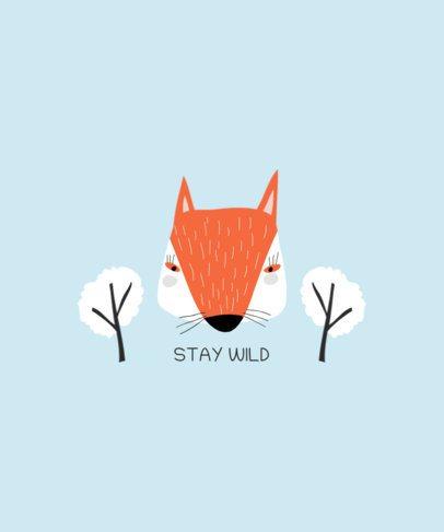 T-Shirt Design Maker Featuring a Wild Fox Illustration 2326a-el1