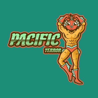 Logo Template Featuring a Hybrid Fish Man 3498c