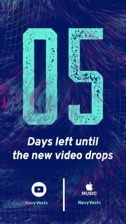 Music-Themed Instagram Story Creator for a New Video Drop Countdown 2758h