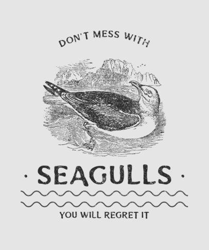 T-Shirt Design Creator Featuring Vintage Seagull 2390b-el1