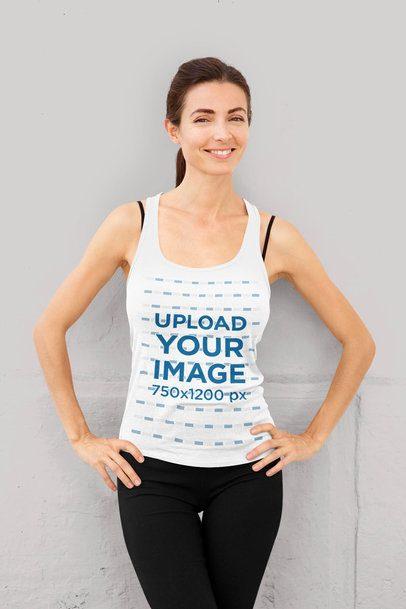 Tank Top Mockup of a Smiling Woman Posing 35382-r-el2