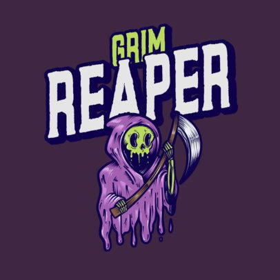 Illustrated Logo Maker Featuring a Grim Reaper 3492h