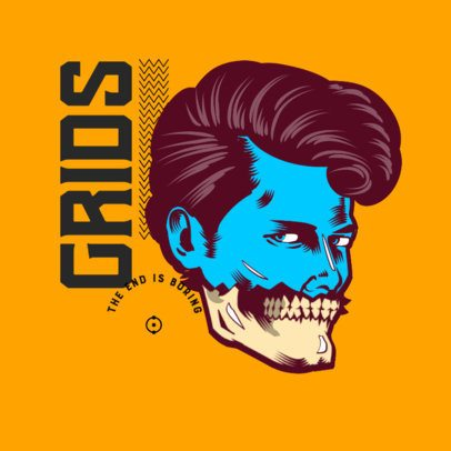 Logo Maker for an Apparel Line Featuring a Half Man and Half Skeleton Graphic 3486g