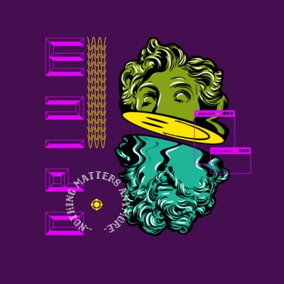 Logo Creator for a Musician Featuring a Distorted Bust 3486h