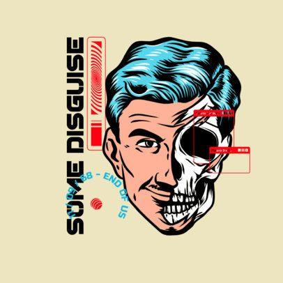 Music Logo Maker Featuring a Skeleton Man's Face 3486j