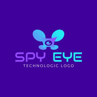 Technology Logo Template Featuring a Flying Drone Graphic 3483a