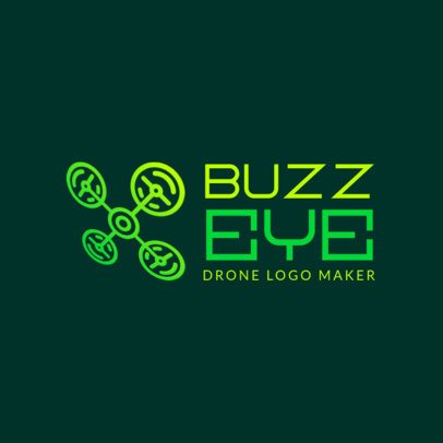 Technology Logo Template Featuring an Abstract Quadcopter Graphic 3483d
