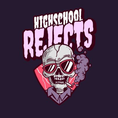 Logo Maker for an Apparel Brand with a Retro Horror Theme 3492m