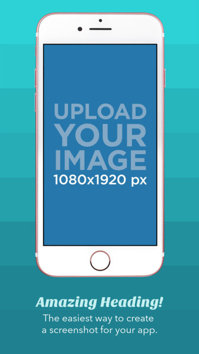 Pink iPhone 7 iOS Screenshot Builder